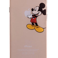 Mickey Mouse Transparent Back Cover Case for iPhone 6 Plus