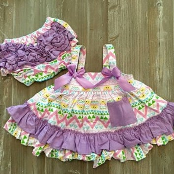 5aa275fb57fa Easter Outfit, Baby Girl Easter Outfit, Easter Swing Top Set, Baby's First  Easter
