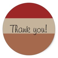 Choice of Three Color Palettes Thank you Sticker