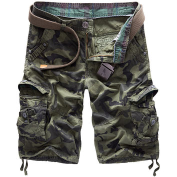 Camouflage Men With Pocket Beach Pants [6541432323]