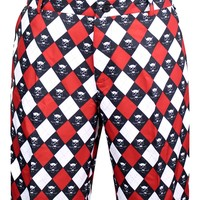 Monster ProCool Golf Shorts (Red/Black/White)