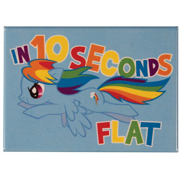 My Little Pony - Rainbow Dash 10 Seconds Magnet