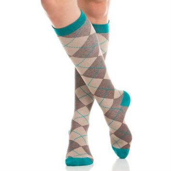 Argyle Women's Compression Socks in 20-30 mmHg