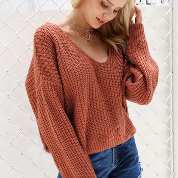 Wool Lace Up Sweater