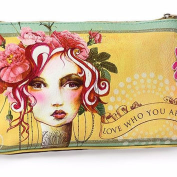 Small Rose Tassel Pouch