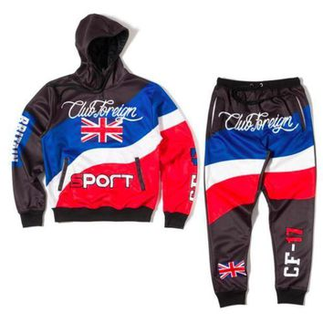 Club Foreign Sports British Three Color Hoodies And Sweatpants Suit Set - Beauty Ticks