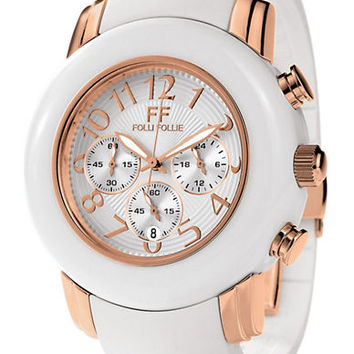 Folli Follie Ladies Urban Spin Rose Gold Chronograph Watch