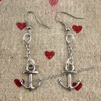 Anchor creative jewelry earring personality fashion gift silver anchor earrings earrings daily accessories relatives and friends