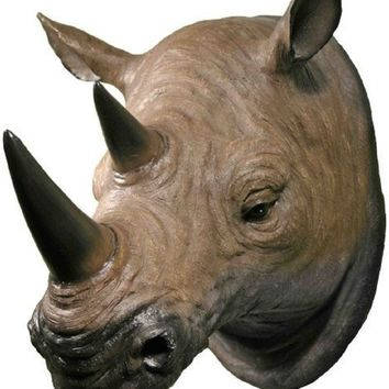 Rhino Attack Plaque - 3D Wall Trophy