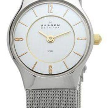 Skagen Womens 233XSGSC Watch Silver Mesh Band