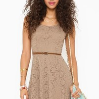 Lace Skater Dress in  Clothes Dresses at Nasty Gal