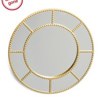 """Sophia 20"""" Round Stud Accent Gold Wall Mirror"""