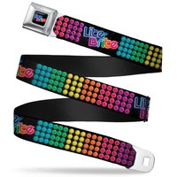 Lite Brite Logo Full Color Black Blues Multi Color Lite Brite Logo Pegs Seatbelt Belt Standard