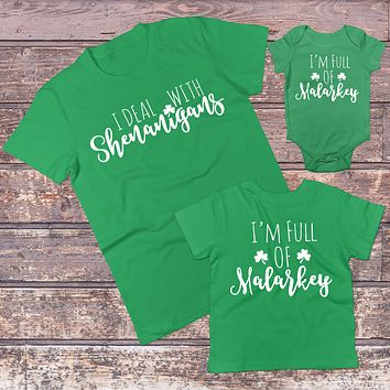 St Patricks Day Family Matching Outfits - Irish Mommy and Me/Daddy and Me Sets
