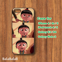 iphone 4S case,iPhone  4 case,iphone 5 Case--Agnes,Despicable Me, in durable plastic or rubber silicone case
