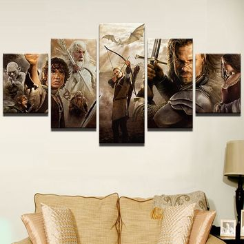 Lord of the Rings Characters Montage Canvas