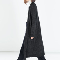EXTRA LONG CARDIGAN WITH POCKETS - Knitwear - WOMAN | ZARA China
