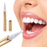 Gold Practical Teeth Whitening Pen Tooth Gel Whitener Bleach Stain Remover Instant 1 Piece