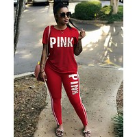 Victoria's secret PINK Tight pants Short Sleeve Top Two-Piece