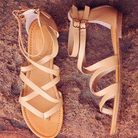 Jeta Gladiator Sandals - Taupe