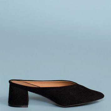 Eve Suede Mules - Black