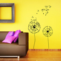 Wall Decals Vinyl Sticker Decal Murals Dandelion in the Wind Flower Nature Plants Grass Forest Home Decor Nursery Bedroom Murals SV6049