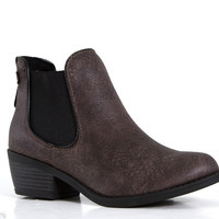 Soda Shoes Chelsea Ankle Booties in Dark Taupe CHELSEA-S-DKTAUPE