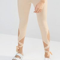 Boohoo Tie Detail Legging at asos.com