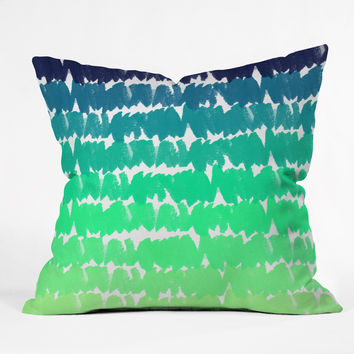 Rebecca Allen To The Blues Throw Pillow
