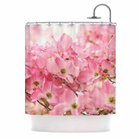 """Sylvia Cook """"Pink Dogwood"""" Floral Photography Shower Curtain"""