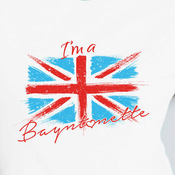 I'm a Bayntonette British Union Jack UK T-shirt tee Shirt Rocket TV show Movie inspired Mens Ladies Womens Youth Kids MLG-1112