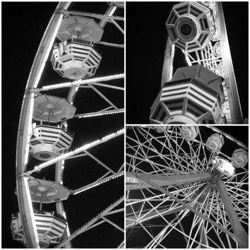 Buy 2 Get 1 Free Ferris Wheel Prints Black and White Photography Set of 3 Digital Download Instant Download Carnival Printables Home Decor