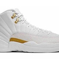 Men's Breathable Leather OVO Basketball Sneakers XII Lace-up Air-sole Heel Air Jordan