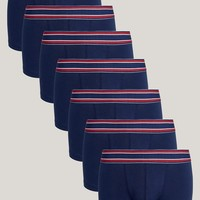 ASOS Hipters In Navy With Stripe Waistband 7 Pack SAVE at asos.com