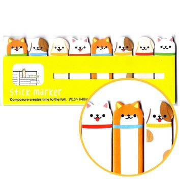 Puppy Dog Animal Themed Memo Pad Post-it Index Tab Sticky Bookmarks