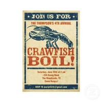 Crawfish Boil Invitations from Zazzle.com