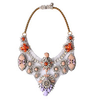 Personalized Statement Floral Collar Necklace