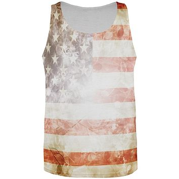 4th of July American Flag Star Spangled Banner All Over Mens Tank Top