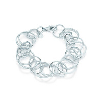 Tiffany & Co. - Tiffany 1837™ interlocking circles bracelet in sterling silver, medium.