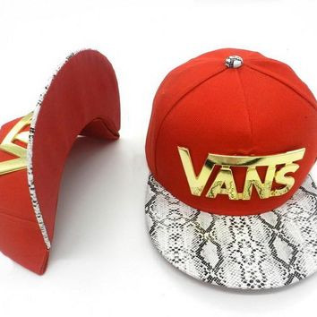 VANS Women Men Embroidery Sports Sun Hat Hip Hop Baseball Cap Hat