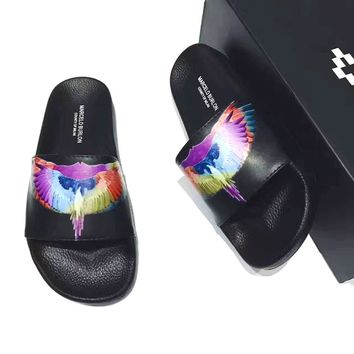 Marcelo Burlon Casual Fashion Women And Men Colorful Sandal Slipper Shoes G-PSXY