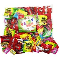 Assorted Candy Party Mix Bulk bag of 3 Lbs Skittles Swedish Fish Nerds Haribo Gummy Sour Patch Twizzlers Life Savers Starbutst Mike and Ike Custom Varietea Peppermints and more! Net wt 3.0 LB/48 oz