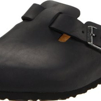 Unisex Boston Slip-On Clog slip-on mule featuring round toe