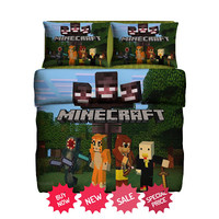 Minecraft Stampy Fleece Blanket Large & 2 Pillow Case #85644888,85644889 - Home Deco On Line