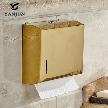 Yanjun Wall Mounted Stainless Steel Toilet Paper Holder WC Paper Towel Holder Tissue Dispenser  Bathroom Accessories YJ-8670