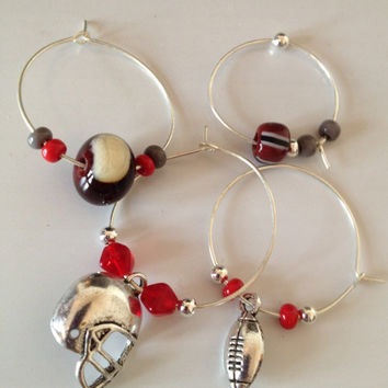 Ohio State Wine Glass Charms by HorkoverGlass on Etsy