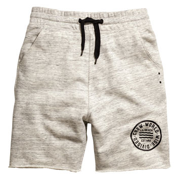 H&M - Sweatshorts - Gray melange - Men