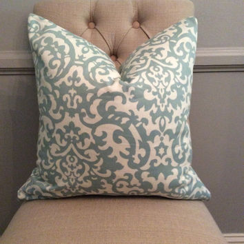 SALE! Handmade Decorative Pillow Cover - Waverly- Spa