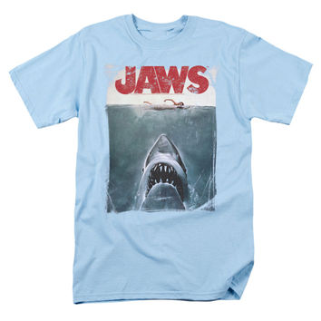 Jaws Men's  Title T-shirt Blue