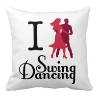 I (Dance) Swing Throw Pillow